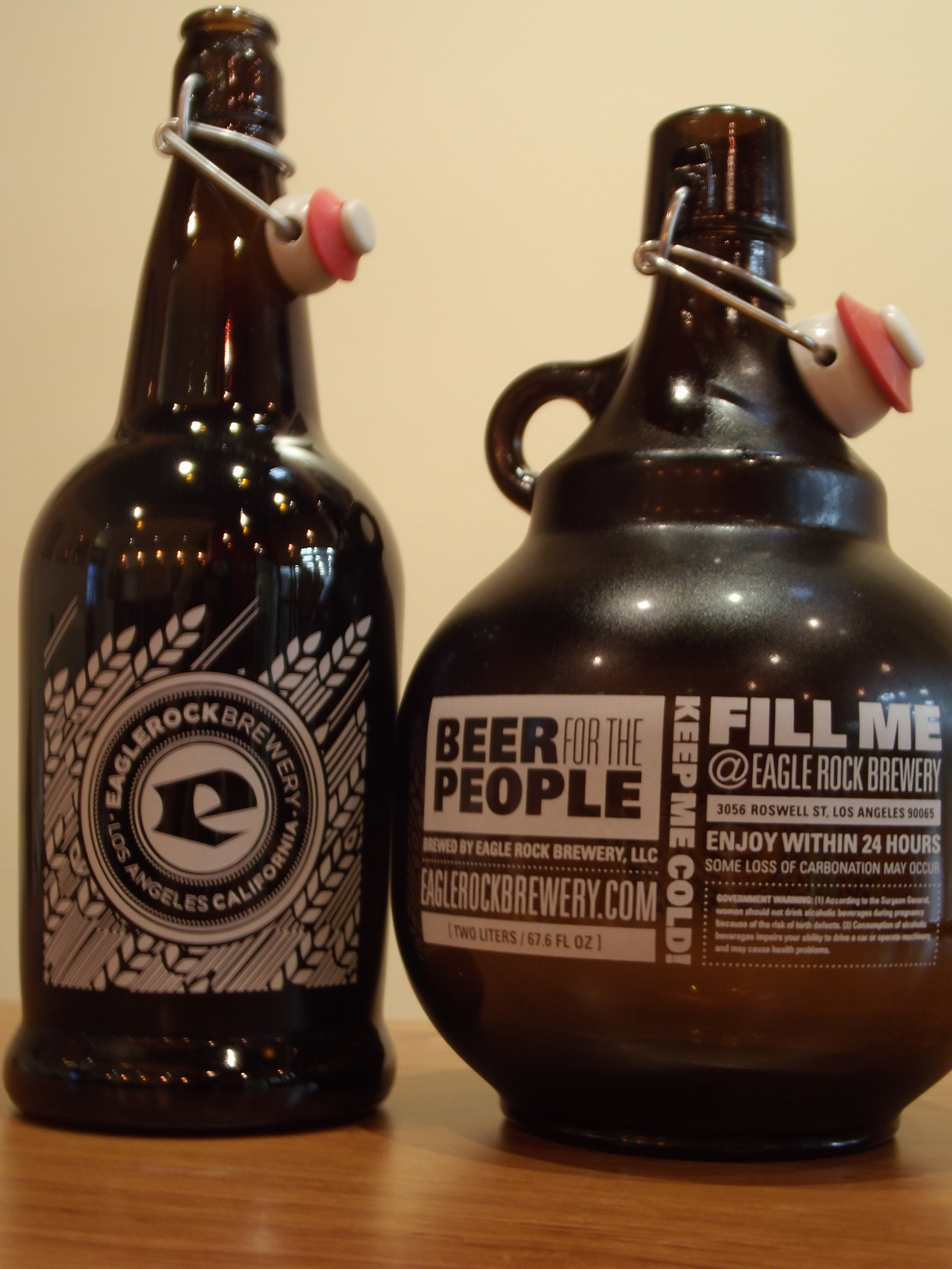 1 or 2 Liter Growlers